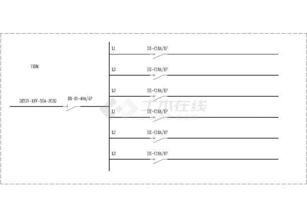 某公共建筑电气方案设计施工CAD图纸-图一