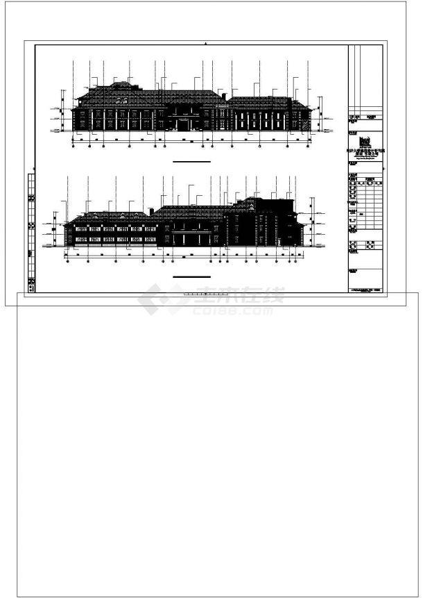 某度假酒店建筑方案设计施工CAD图纸-图一
