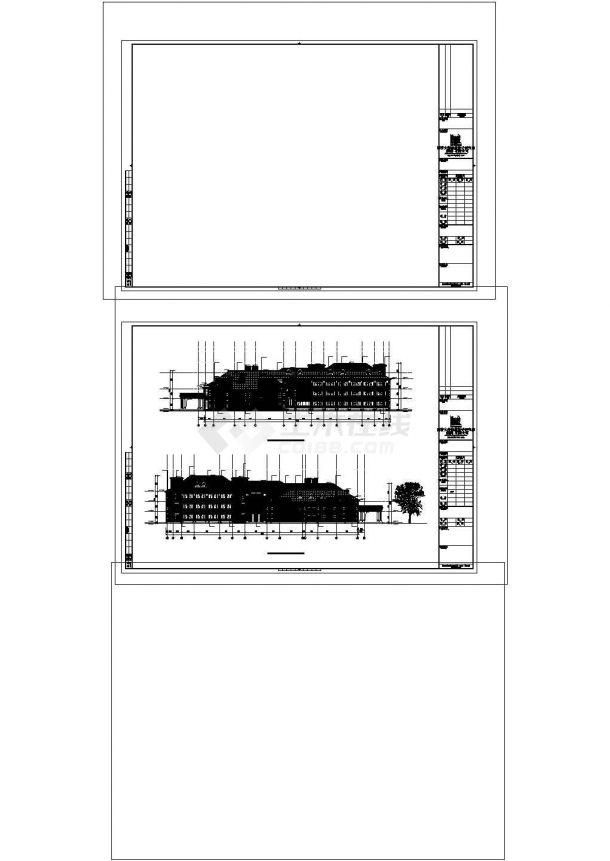 某度假酒店建筑方案设计施工CAD图纸-图二