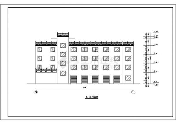 某高层星级综合大酒店建筑方案设计施工CAD图纸-图一