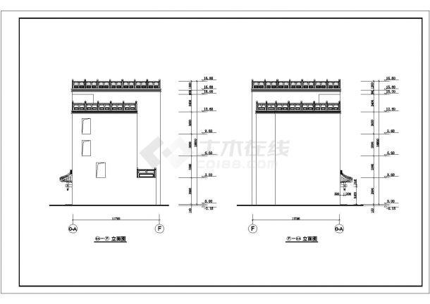 某高层星级综合大酒店建筑方案设计施工CAD图纸-图二