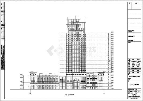 某旅游城市度假酒店建筑方案设计施工CAD图纸-图二