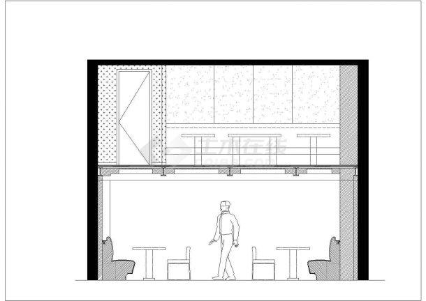 某二层西餐厅室内装修设计cad方案图-图一