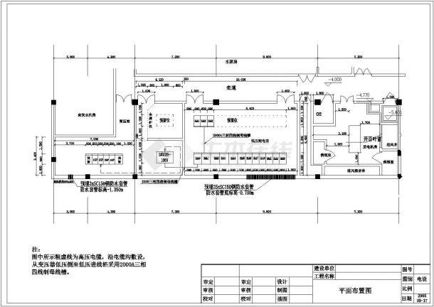 电气设计_某中型别墅配电系统CAD图-图二