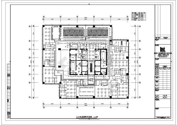 南京市秦淮区某37层高层商住大楼全套强弱电系统设计CAD图纸-图一