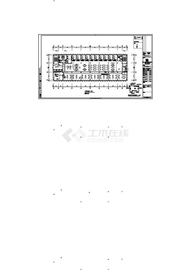 北京市某重点大学内部8层框架结构服务中心全套强弱电系统设计CAD图纸-图二
