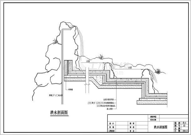 湖南某高档住宅小区全套景观施工设计cad图(含游泳池平面图)-图一