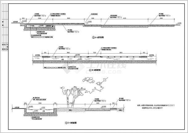 【杭州】某地高档会所全套景观设计施工cad图(含会所景观布置总平面图)-图二