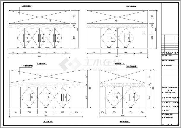 【杭州】某地新型住宅小区全套景观施工设计cad图纸-图二