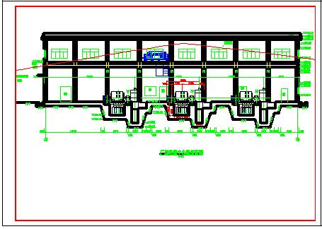 高水头水电站厂房施工cad设计建筑图纸-图二