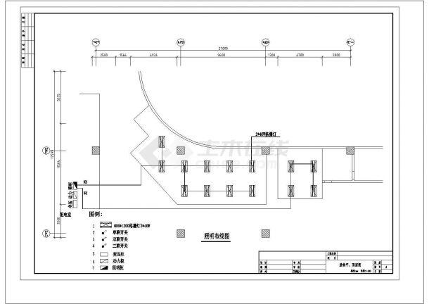 办公楼室内安装工程电气施工图-图一
