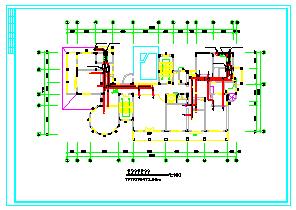 豪宅别墅暖通空调cad设计施工图-图二