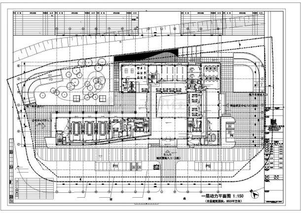 西安市某大学5层行政办公综合楼强弱电系统全套设计CAD图纸-图一