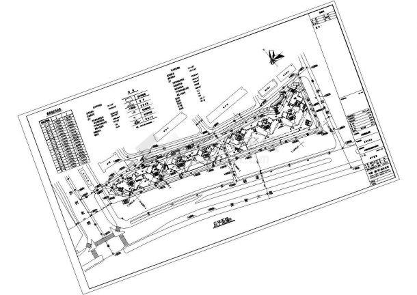 某一线城市花园小区规划设计cad总平面施工图(含技术经济指标)-图一