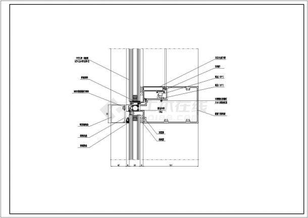 经典单元幕墙设计cad节点详图图集(甲级院设计,99张图)-图一