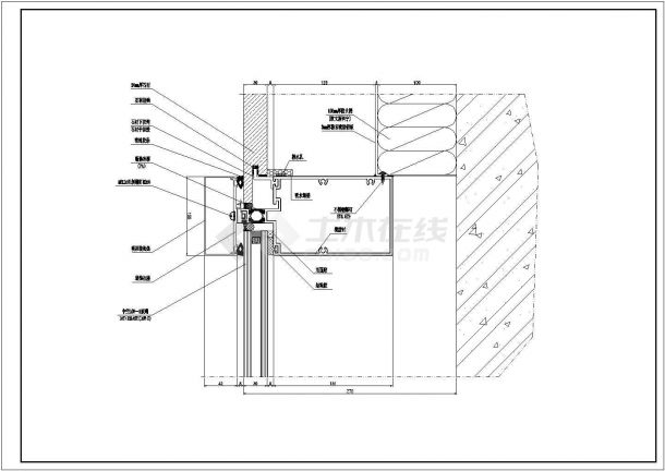 经典单元幕墙设计cad节点详图图集(甲级院设计,99张图)-图二