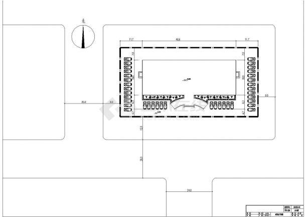 【5层】5324平米钢框架CAD办公楼毕业设计(计算书pdf、建筑、结构图)-图一