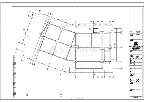 南昌市某新建居住区的3层框架结构售楼处强弱电系统设计CAD图纸-图一
