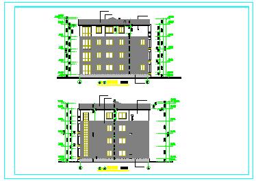 经典多层住宅楼设计CAD建筑施工图纸-图二