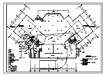 某九层带地下室综合楼电气施工cad图(含弱电,消防设计)-图一