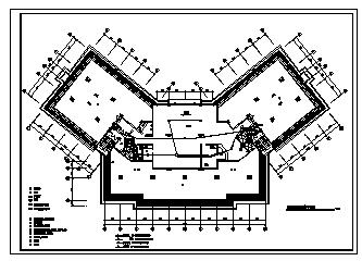 某九层带地下室综合楼电气施工cad图(含弱电,消防设计)-图二