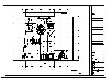 某二层综合楼电气施工cad图(含插座,照明设计)-图一
