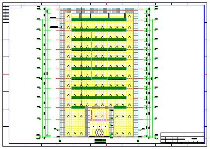 框架型11层办公楼全套施工cad建筑图纸-图一