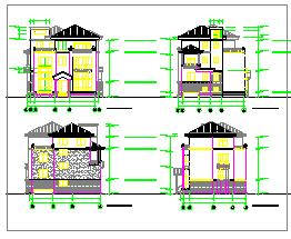 联排别墅建筑设计cad方案图纸-图二