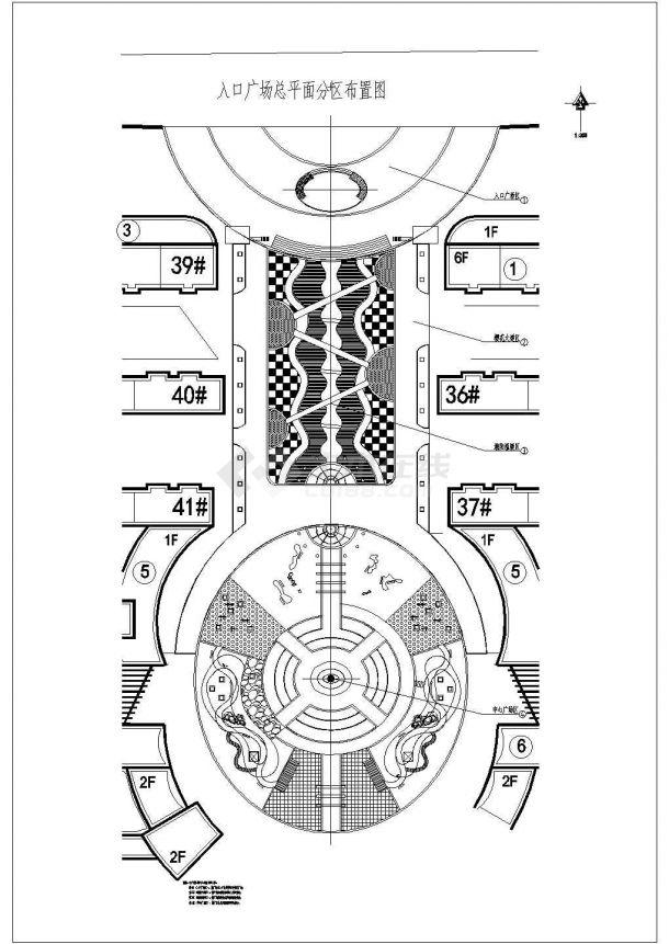 【深圳】某地高档小区的园林全套景观施工设计cad图(含设计说明及图纸目录)-图二
