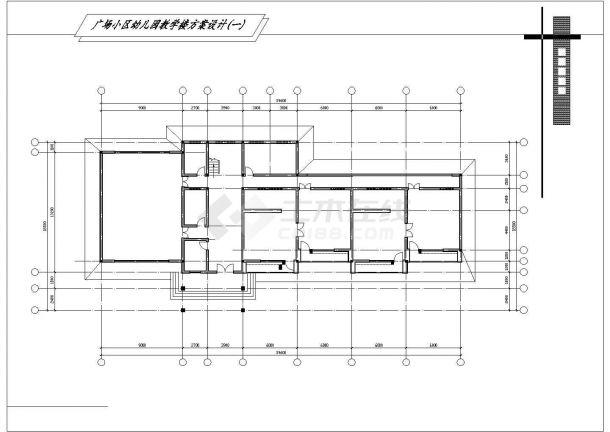 某幼儿园及小学校园建筑规划方案设计施工CAD图纸-图一