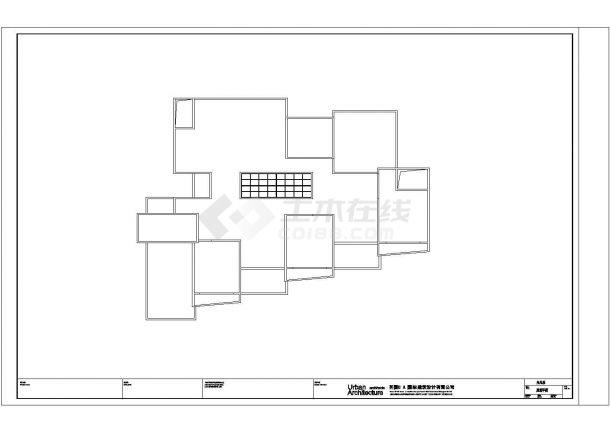 某市区高级幼儿园建筑全套方案设计施工CAD图纸-图一