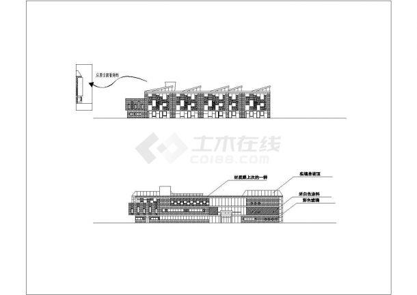 某市区幼儿园教育楼建筑方案设计施工CAD图纸-图一