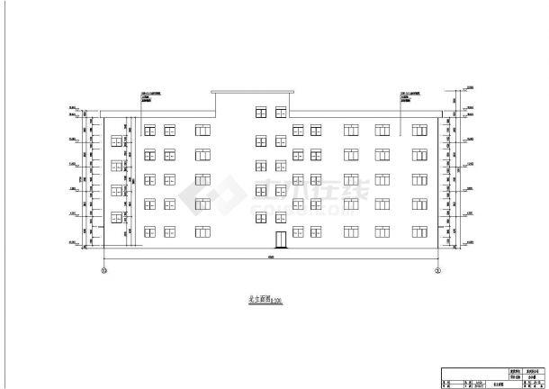 某5324平米CAD五层钢框架办公楼毕业设计(计算书pdf、建筑、结构图)-图一