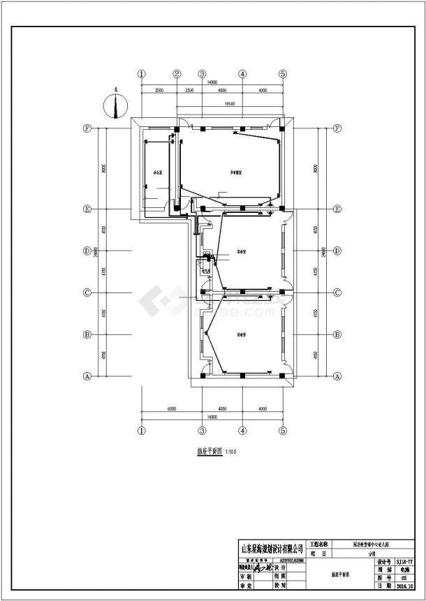 某市区幼儿园分园建筑全套方案设计施工CAD图纸-图二