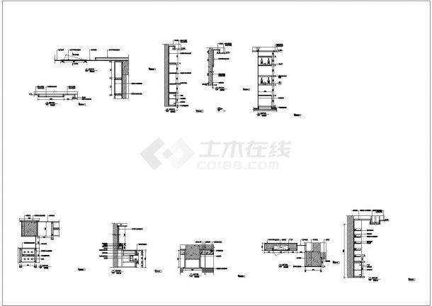 某现代大酒店自助餐厅装修设计cad全套施工图-图二