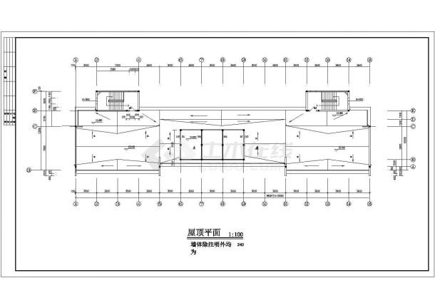 某地区外国语大学七层学生建筑工程设计CAD图(含平立剖)-图一