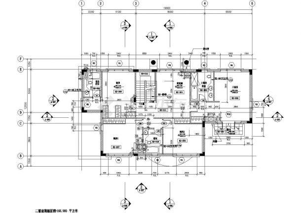 无锡某小区590平米3层框混结构单体别墅建筑设计CAD图纸(含地下室)-图二