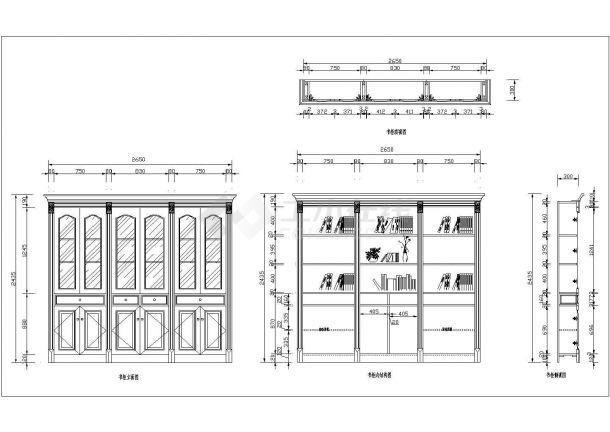 经典30款实木酒柜装修设计CAD全套施工图图库-图二