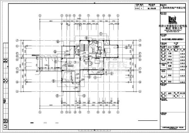 烟台市某村镇490平2层框混结构独栋别墅建筑设计CAD图纸(含负一层)-图一