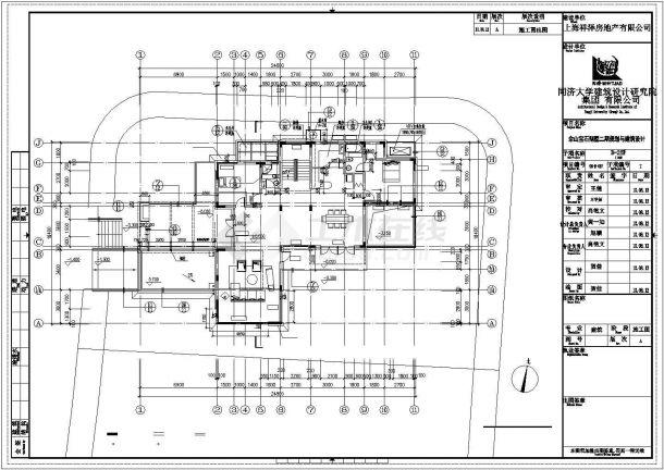 烟台市某村镇490平2层框混结构独栋别墅建筑设计CAD图纸(含负一层)-图二
