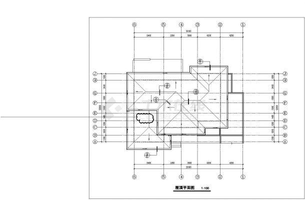 成都某村镇396+540平米两套双层混合结构独栋别墅建筑设计CAD图纸-图一
