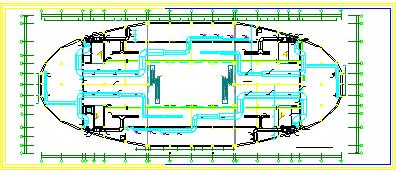 某大型暖通空调系统整套cad设计方案图纸-图一