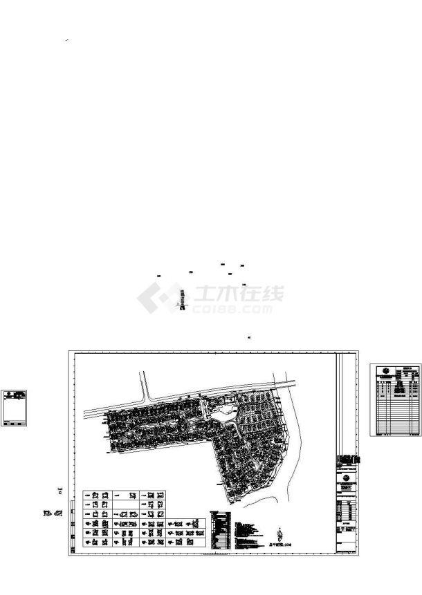 重庆市佘山宝石别墅区总平面规划设计CAD图纸(占地2..8万平米)-图一