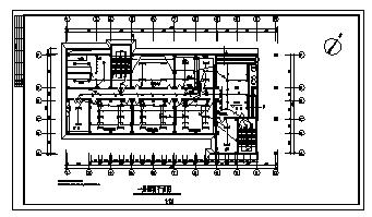 某六层带地下室综合楼电气施工cad图(含照明,弱电,消防设计)-图一