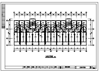 某六层综合楼电气施工cad图(含照明配电,防雷接地系统设计)-图一
