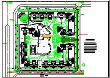[南京]高层住宅小区平面绿化规划cad设计图纸-图二