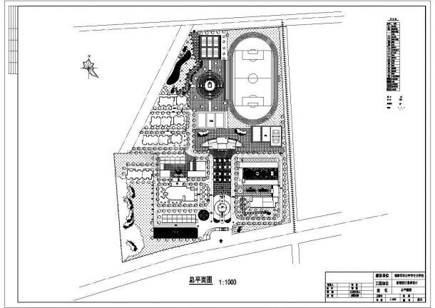 湖州德清县某职业技术学院校区总平面规划设计CAD图纸(2张)-图二