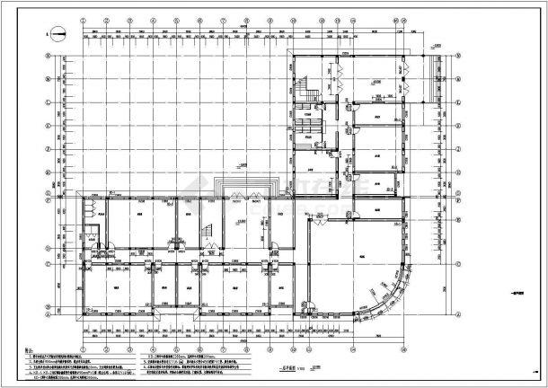 合肥市某高校7790平米7层框架结构教学实验楼建筑设计CAD图纸-图二