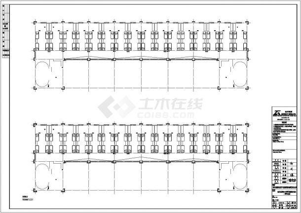 郑州市某大型私立中学教学楼+食堂+宿舍全套建筑设计CAD图纸-图一