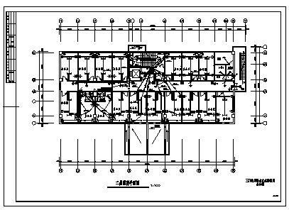 某市九层单位办公综合楼电气施工cad图(含照明设计)-图一